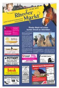 15-09-18 Sonderseite Rheder Markt Ems-Zeitung Seite 1
