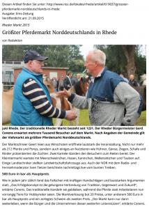 15-09-22 Ems-Zeitung Nachbericht Rheder Markt 2015