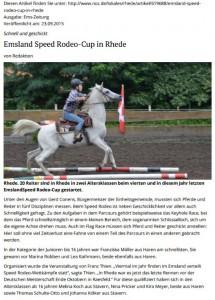 15-09-24 Ems-Zeitung Speed-Rodeo-Reiten 2015