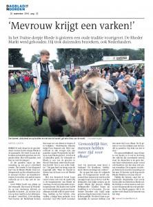 Dagblad van het Noorden - Nachbericht Rheder Markt 2015