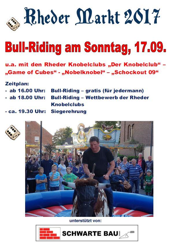 Rheder Markt 2017 Bull Riding Wettbewerb Sonntag 1709