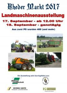 Rheder Markt 2017 - Landmaschinenausstellung Sonntag 17.09. u. Montag 18.09