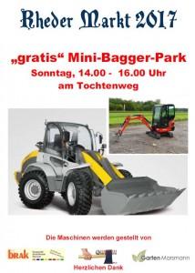 Rheder Markt 2017 - Mini-Bagger-Park Sonntag 17.09.