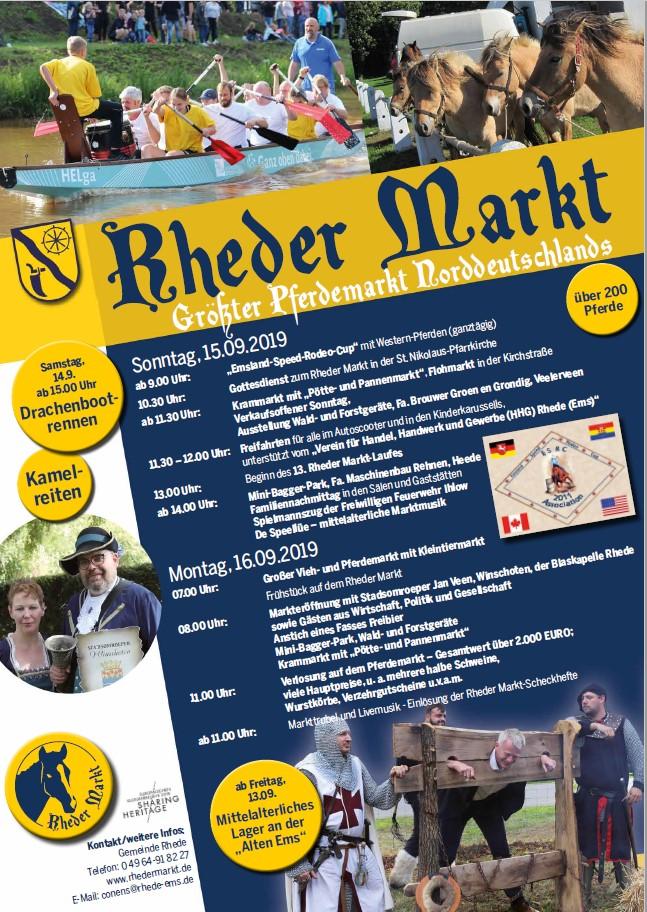 2019 Rheder Markt Plakat